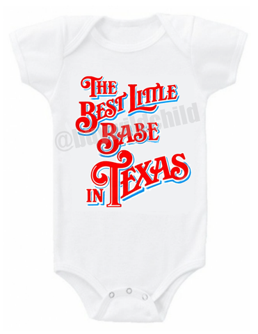 Best Little Babe in Texas onesie