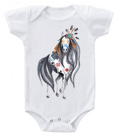 painted horse onesie
