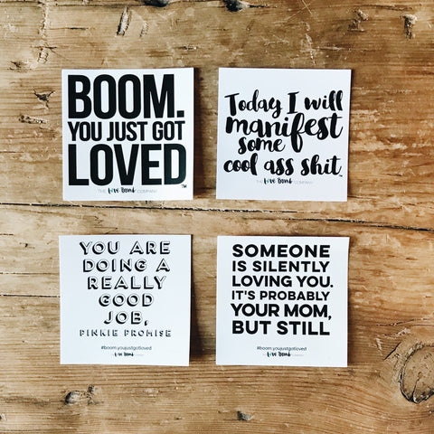 Love Bomb Window Cling 4 Pack - THE LOVE BOMB COMPANY
