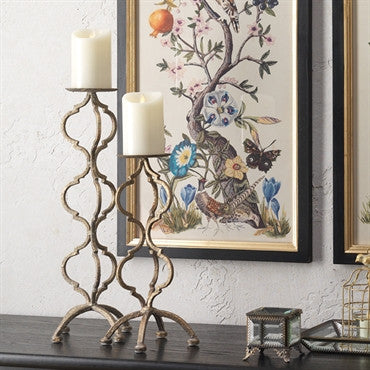 You will find everything to create light in your home.  This collection has lanterns, chandeliers, sconces, and candle holders.
