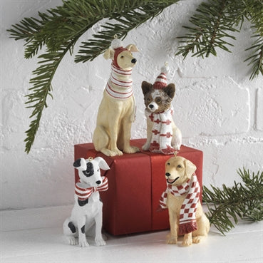 Dog Ornament Set/4 - On Sale Now!