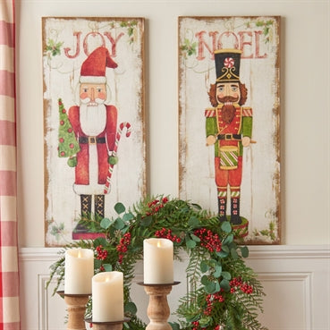 "36"" ""Joy"" and ""Noel"" Wall Art  Set/2 - On Sale Now!"