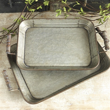 Tray with Handle/Set of 2