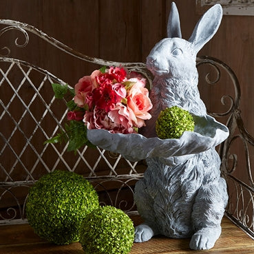Bunny with Leaf Dish