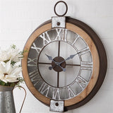 Wood and Metal Clock