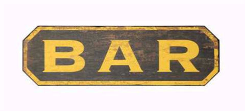 """BAR"" Wall Decor"
