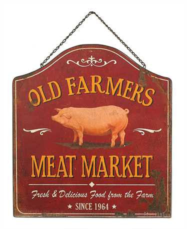 Old Farmers Meat Market Sign