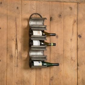 Wall Mount Galvanized Winerack