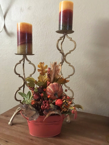 Gold Iron Candleholders Set/2  - Specially Priced!