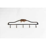 hanging rack, black metal