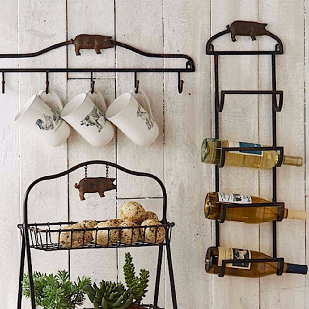 Rustic Black Metal  Wall Rack  - ON SALE NOW!