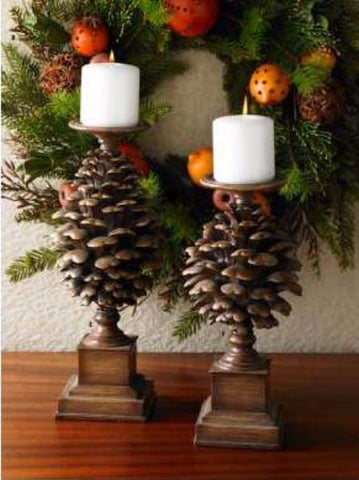 Pinecone Candleholder - On Sale!