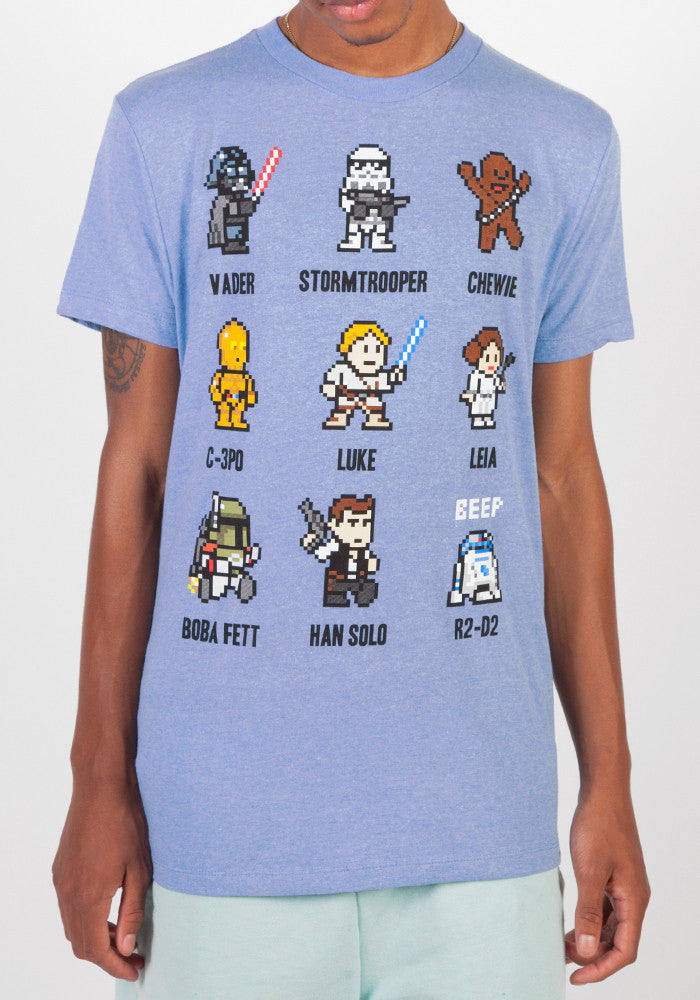 Star Wars 8 Bit Sprite Characters T Shirtnewbury Comics Nc Gs