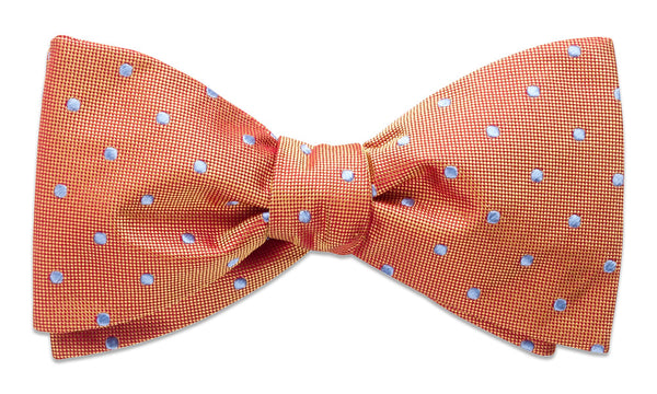 Bennington Orange Self-Tie Bow Tie