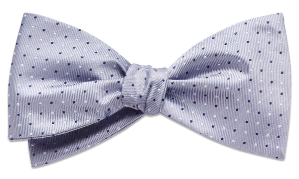 Cambridge Silver Self-Tie Bow Tie