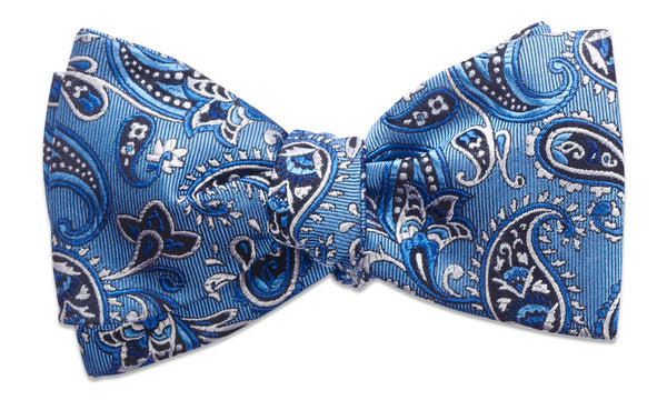 Shelburne Blue Self-Tie Bow Tie