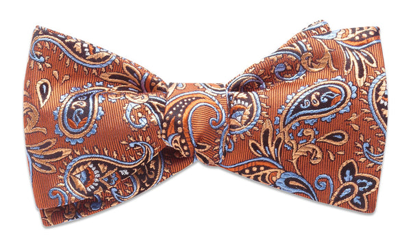 Shelburne Orange Self-Tie Bow Tie