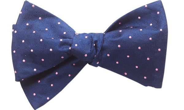 Chester Navy Self-Tie Bow Tie