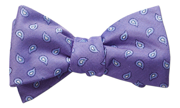 Weston Purple Self-Tie Bow Tie
