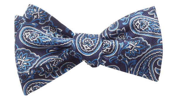 Addison Navy Self-Tie Bow Tie