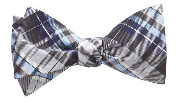 Cornwall Grey Self-Tie Bow Tie
