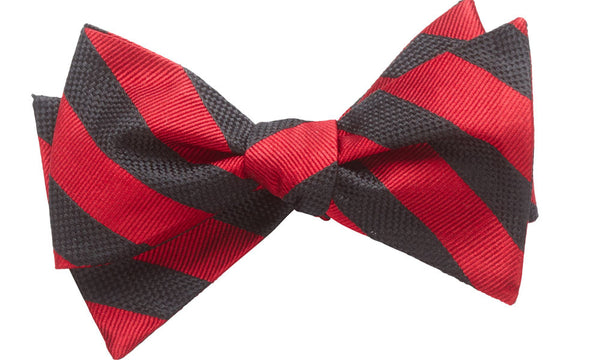 Montgomery Bright Red Self-Tie Bow Tie