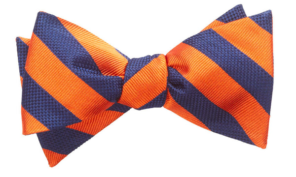 Montgomery Orange Self-Tie Bow Tie