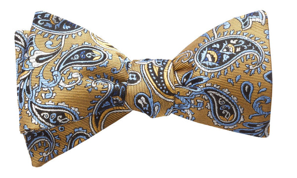 Shelburne Gold Self-Tie Bow Tie