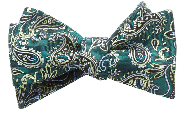 Shelburne Green Self-Tie Bow Tie