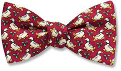 Christmas Goose Self Tie Bow Tie