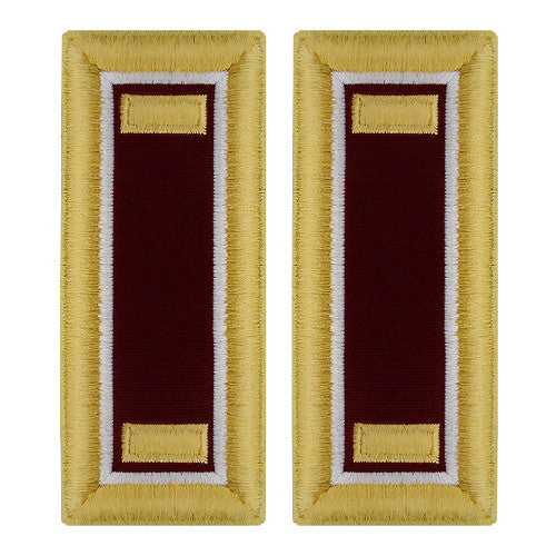 O-1 2nd Lieutenant Army Dress Blue Shoulder Board Rank (Female Size) - MEDICAL AND VETERINARY