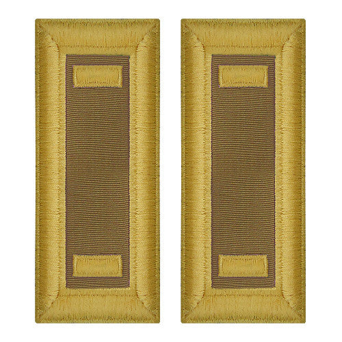 O-1 2nd Lieutenant Army Dress Blue Shoulder Board Rank (Female Size) - QUARTERMASTER