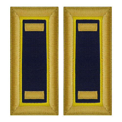 O-1 2nd Lieutenant Army Dress Blue Shoulder Board Rank (Female Size) - CHEMICAL
