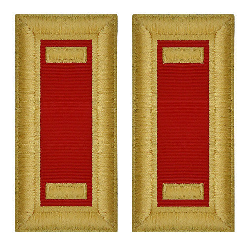 O-1 2nd Lieutenant Army Dress Blue Shoulder Board Rank (Female Size) - ARTILLERY