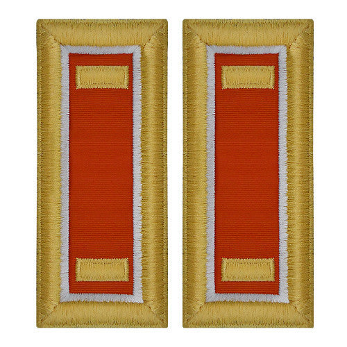 O-1 2nd Lieutenant Army Dress Blue Shoulder Board Rank (Female Size) - SIGNAL