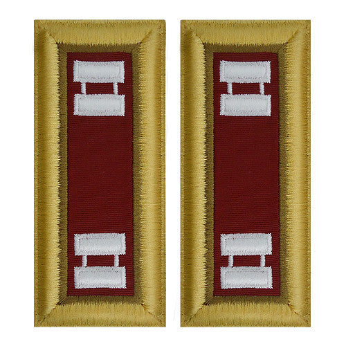 O-3 Captain Army Dress Blue Shoulder Board Rank (Female Size) - LOGISTICS