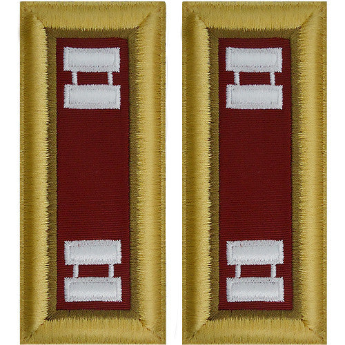 O-3 Captain Army Dress Blue Shoulder Board Rank (Male Size) - LOGISTICS
