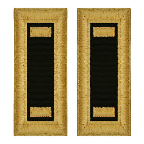 O-1 2nd Lieutenant Army Dress Blue Shoulder Board Rank (Female Size) - CHAPLAIN