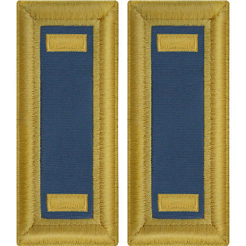O-1 2nd Lieutenant Army Dress Blue Shoulder Board Rank (Male Size) - INFANTRY