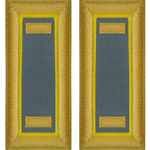 O-1 2nd Lieutenant Army Dress Blue Shoulder Board Rank (Male Size) - FINANCE
