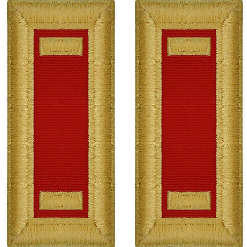 O-1 2nd Lieutenant Army Dress Blue Shoulder Board Rank (Male Size) - ARTILLERY