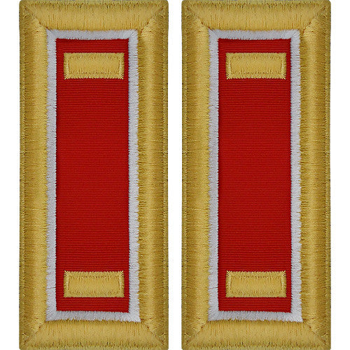 O-1 2nd Lieutenant Army Dress Blue Shoulder Board Rank (Male Size) - ENGINEER