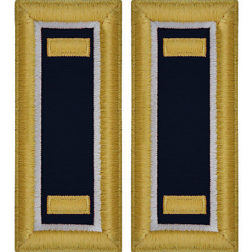 O-1 2nd Lieutenant Army Dress Blue Shoulder Board Rank (Male Size) - JUDGE ADVOCATE