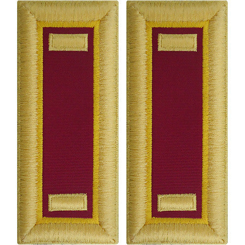 O-1 2nd Lieutenant Army Dress Blue Shoulder Board Rank (Male Size) - ORDNANCE
