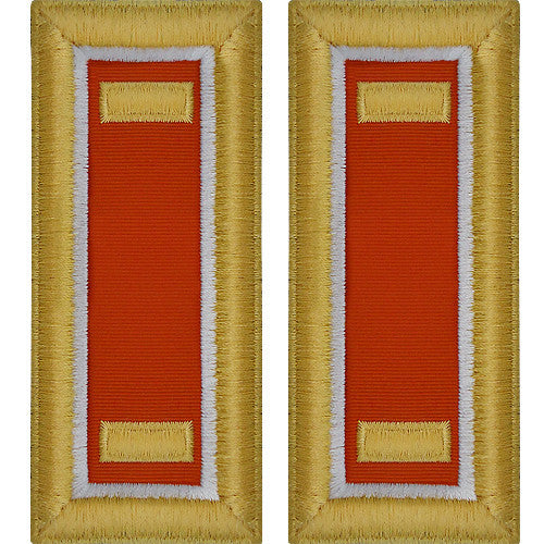O-1 2nd Lieutenant Army Dress Blue Shoulder Board Rank (Male Size) - SIGNAL