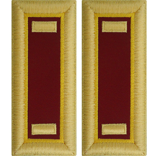 O-1 2nd Lieutenant Army Dress Blue Shoulder Board Rank (Male Size) - TRANSPORTATION
