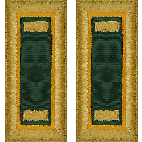O-1 2nd Lieutenant Army Dress Blue Shoulder Board Rank (Male Size) - MILITARY POLICE