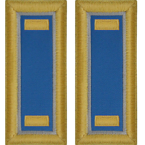 O-1 2nd Lieutenant Army Dress Blue Shoulder Board Rank (Male Size) - MILITARY INTELLIGENCE