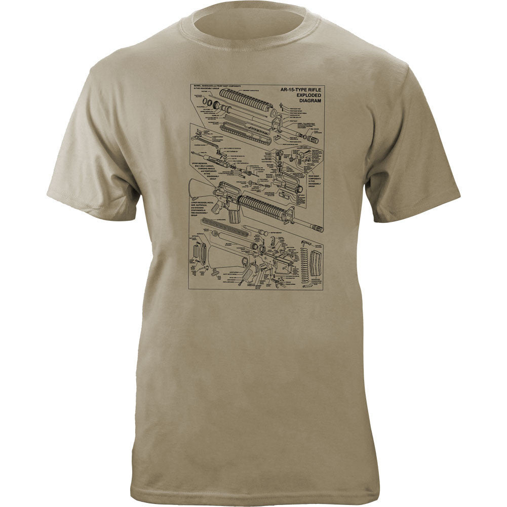 Exploded AR-15 T-Shirt