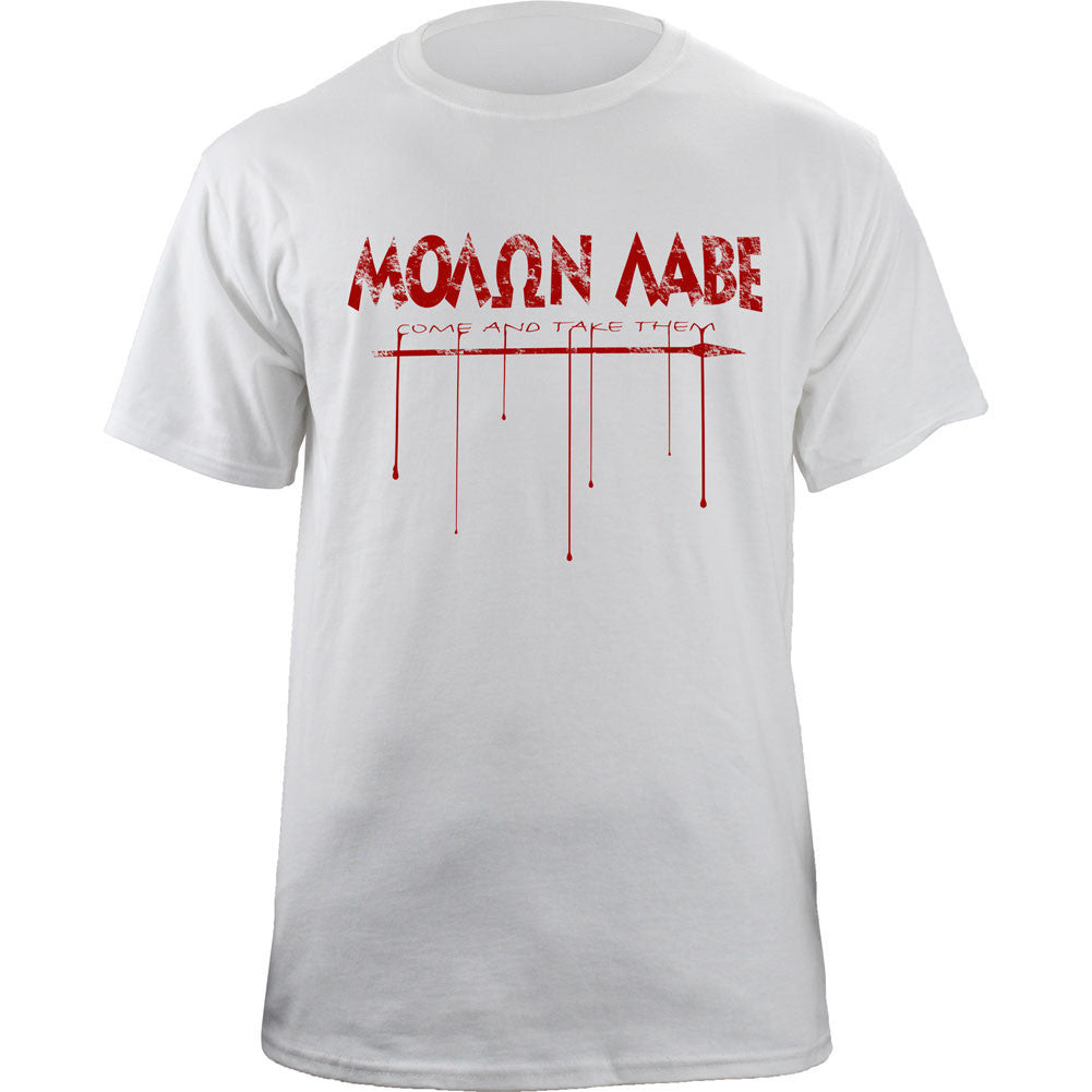 Molon Labe Spear T-shirt - White